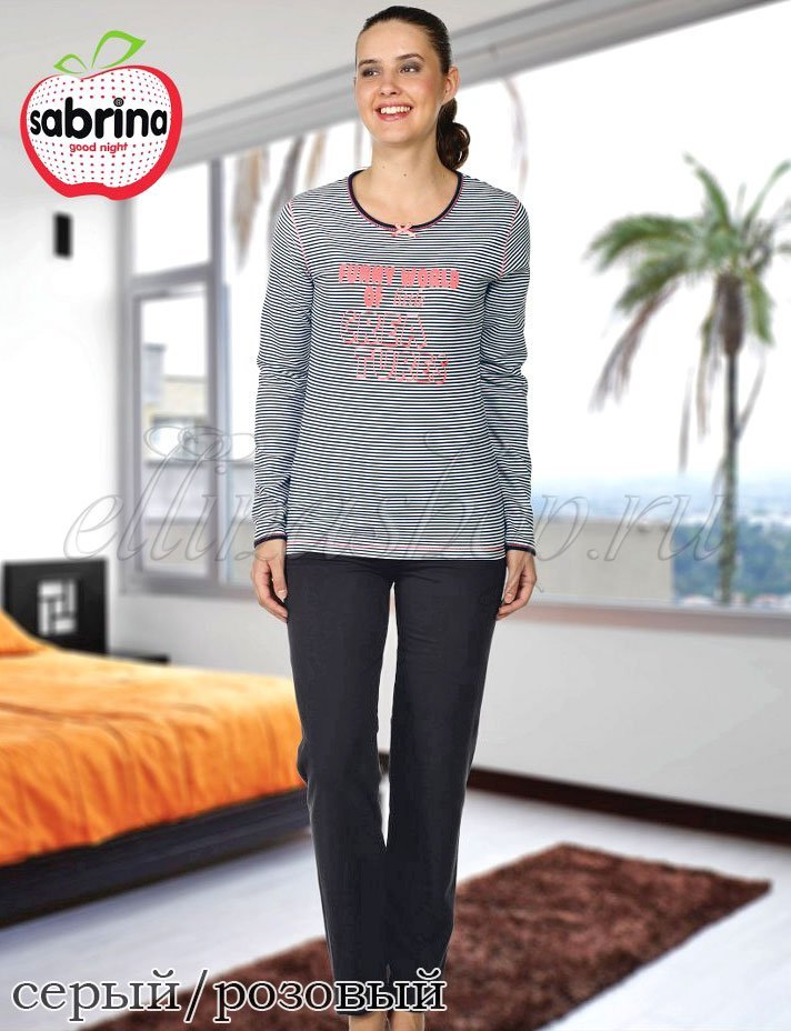 45055 Полоска - комплект (кофта+брюки) Sabrina