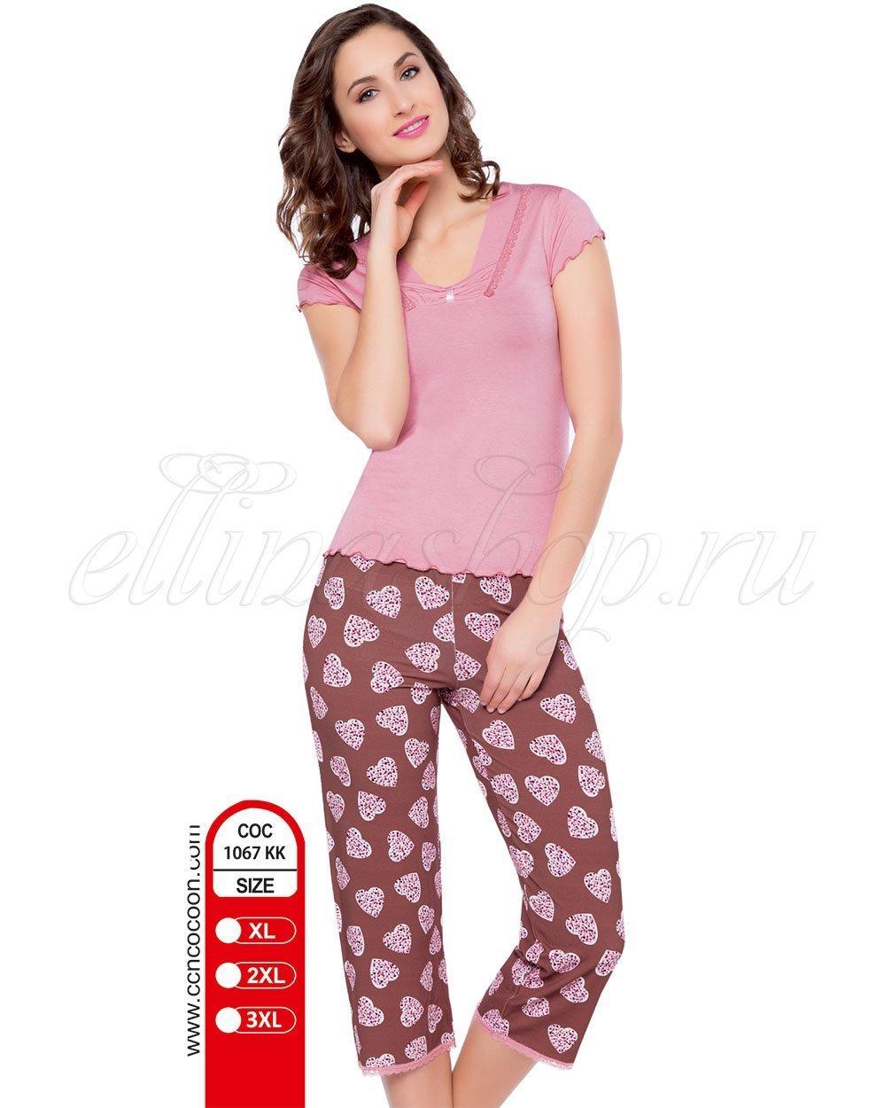 767 KK (KK-1067) сердца - пижама (футболка+бриджи) Cocoon