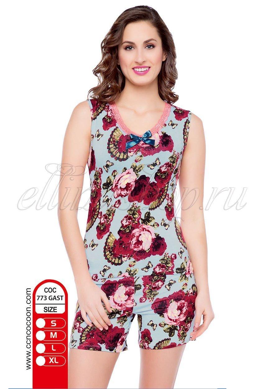 GAST-773 роза - пижама (майка+шорты) Cocoon
