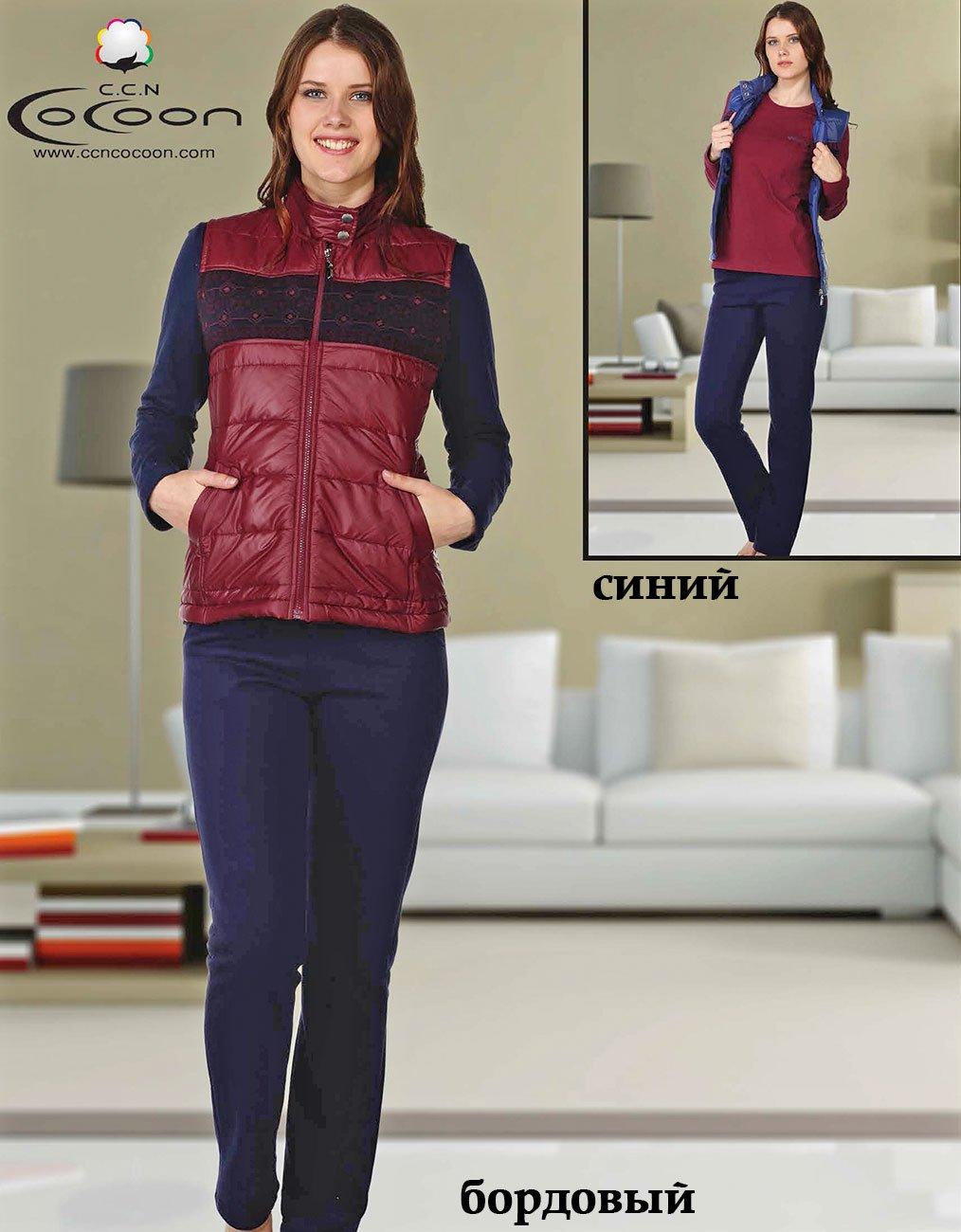 Комплект (жилет+кофта+штаны) 81-7507 Орнамент Cocoon