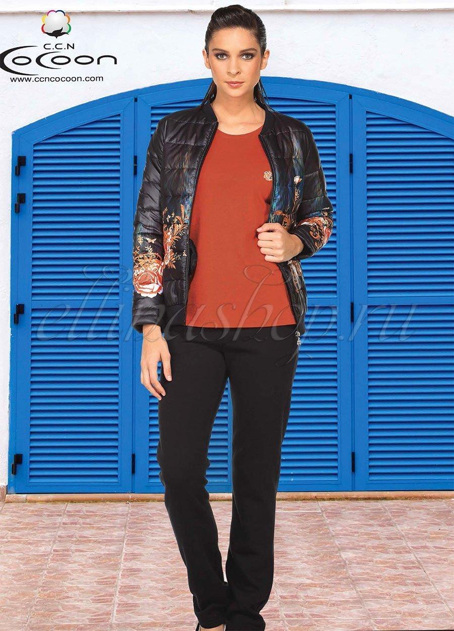 81-7511 Цветы - комплект  (куртка, кофта, брюки) Cocoon