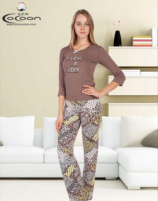 Пижама (кофта+брюки) YPJ-852 Пэчворк Cocoon secret