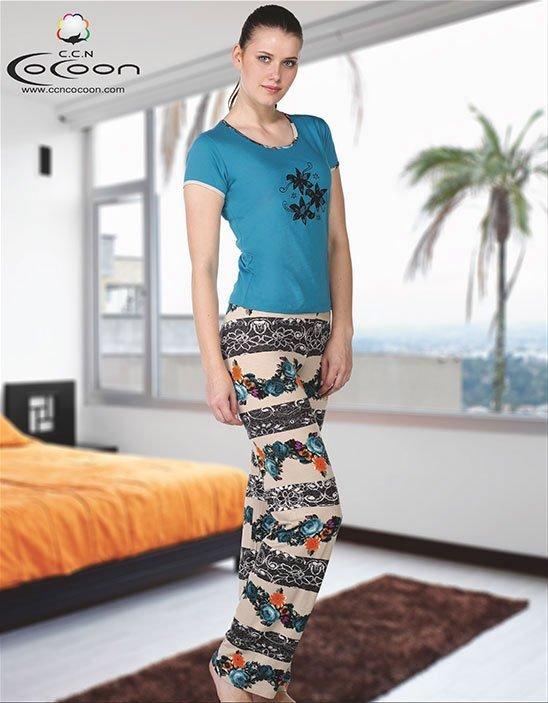 Пижама (футболка+брюки) KPJ-858 Букет Cocoon secret