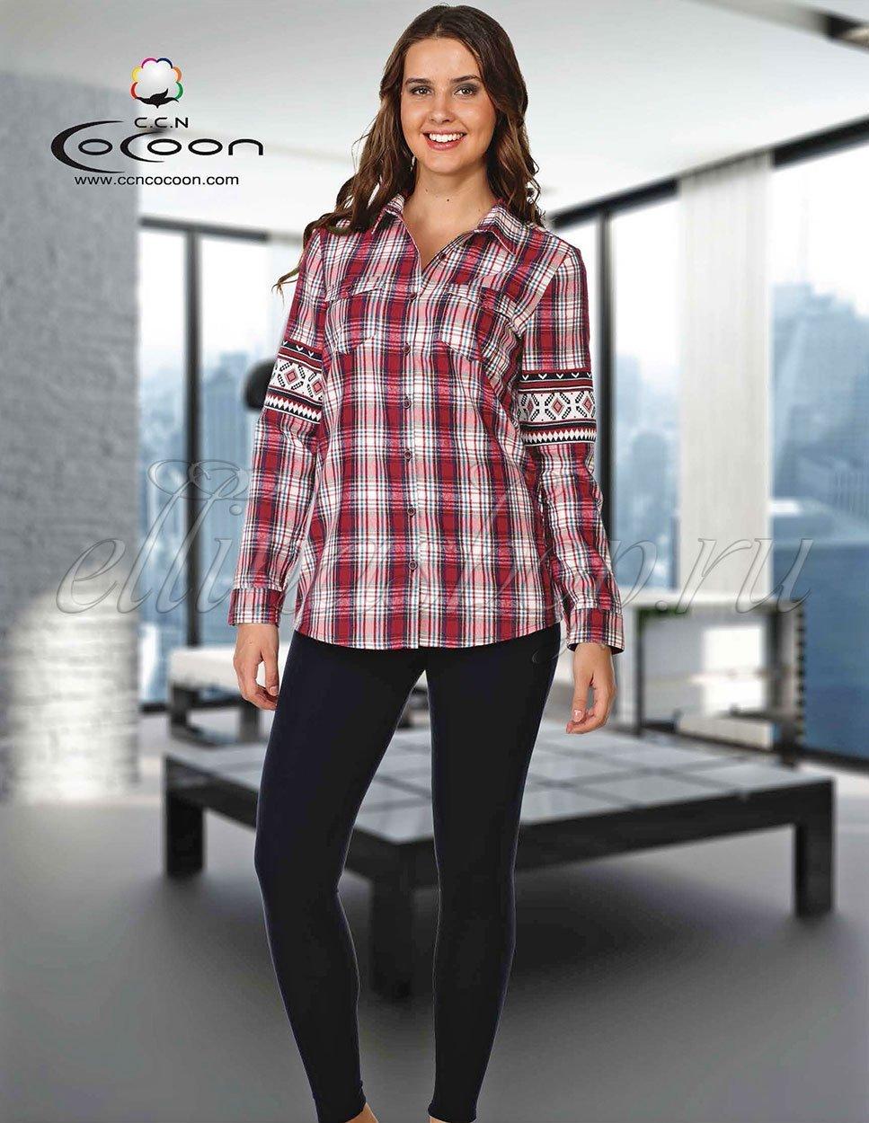 Комплект 96-1045 - 96-1046 Клетка (рубашка+лосины) Cocoon