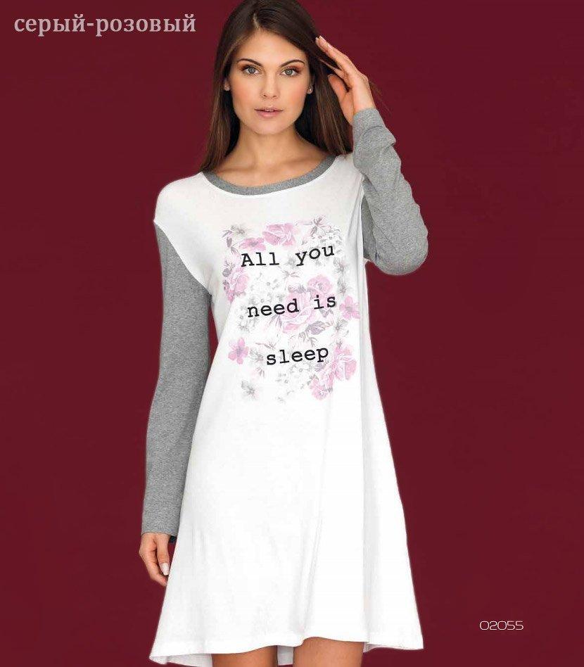 02055 Рубашка средней длины, с длинным рукавом Linclalor