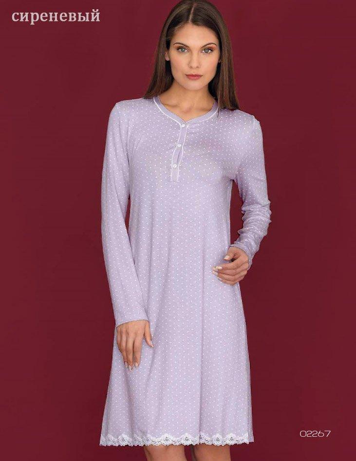 02267 Сердечки - рубашка средней длины, с длинным рукавом Linclalor