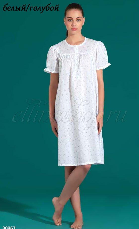 30967 Рубашка с короким рукавом, средней длины Linclalor