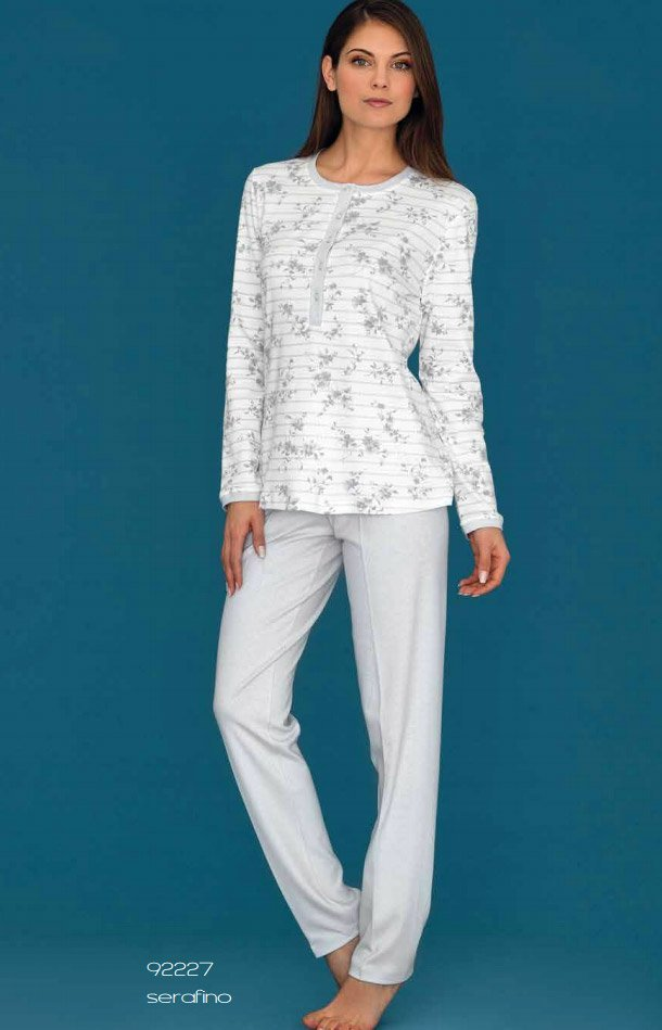 92227 Цветы - пижама (кофта+брюки) Linclalor