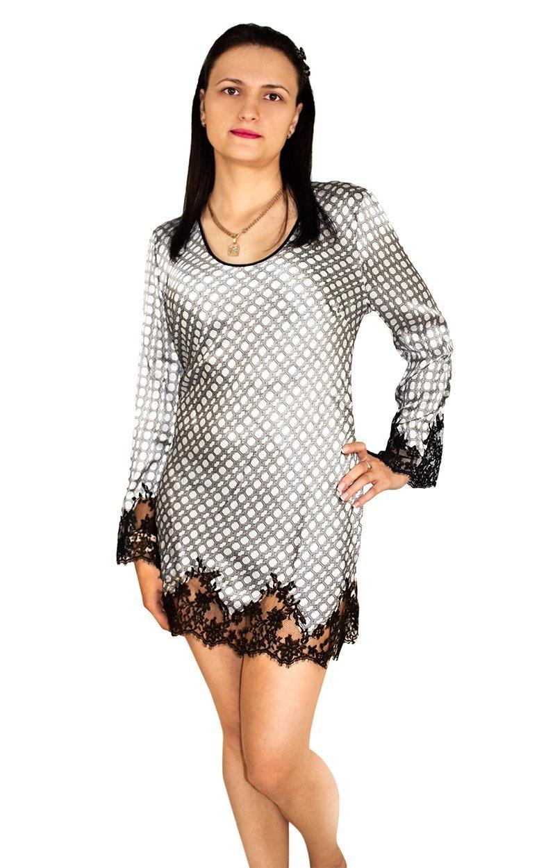 4RAF0501 Шелковая сорочка средней длины Marjolaine