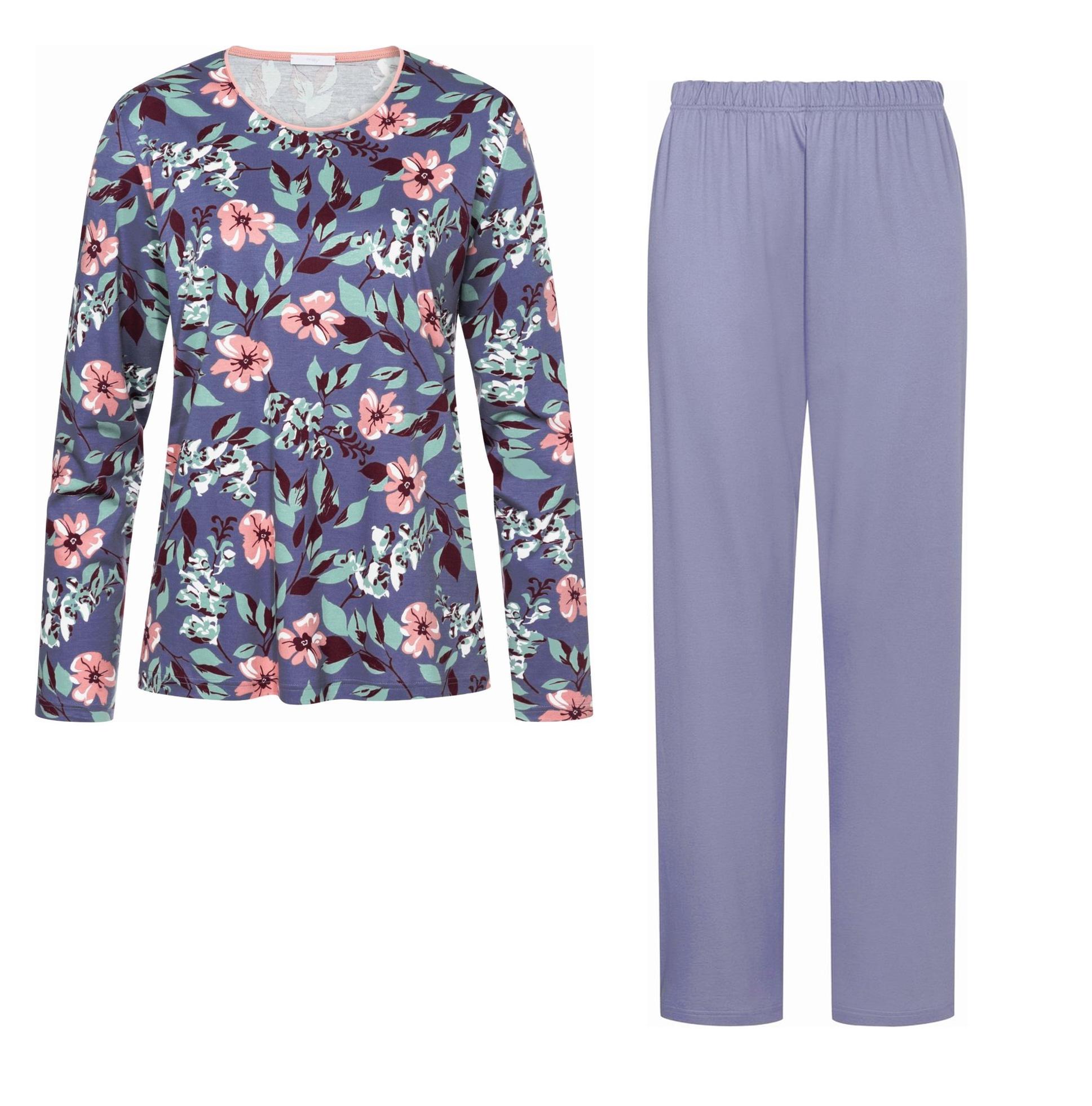 Трикотажная пижама (кофта, брюки) 14028 Maren синий Mey