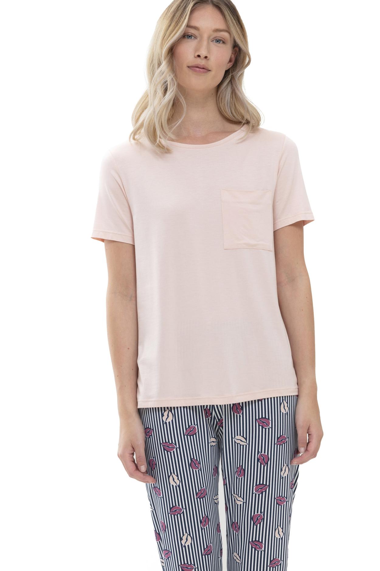 Женская вискозная футболка светло-персиковый 16659 Mey