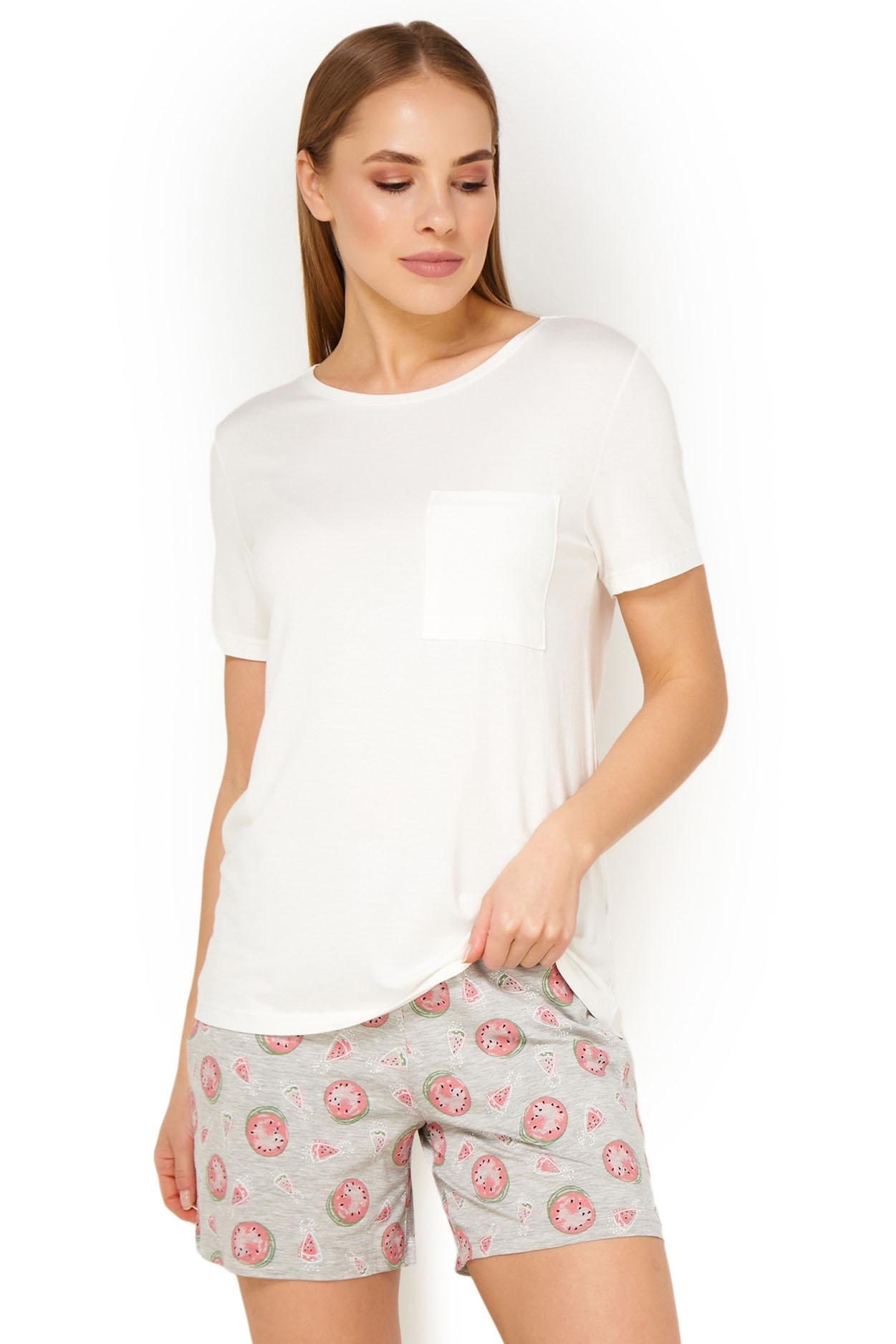 Женская вискозная футболка кремовый 16659 Mey