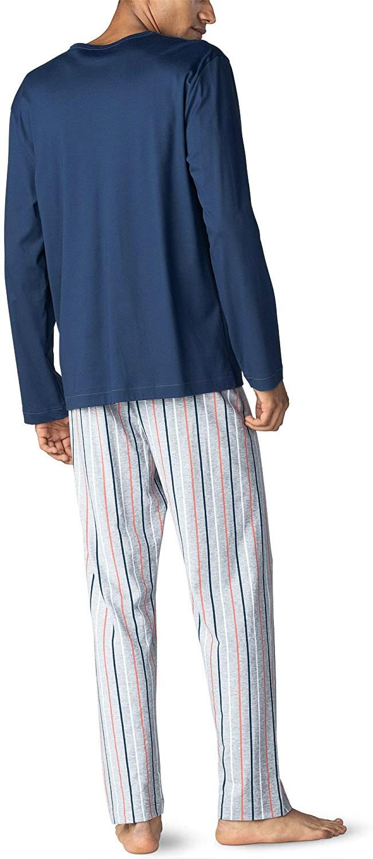 Мужская хлопковая пижама (кофта, брюки) Mey
