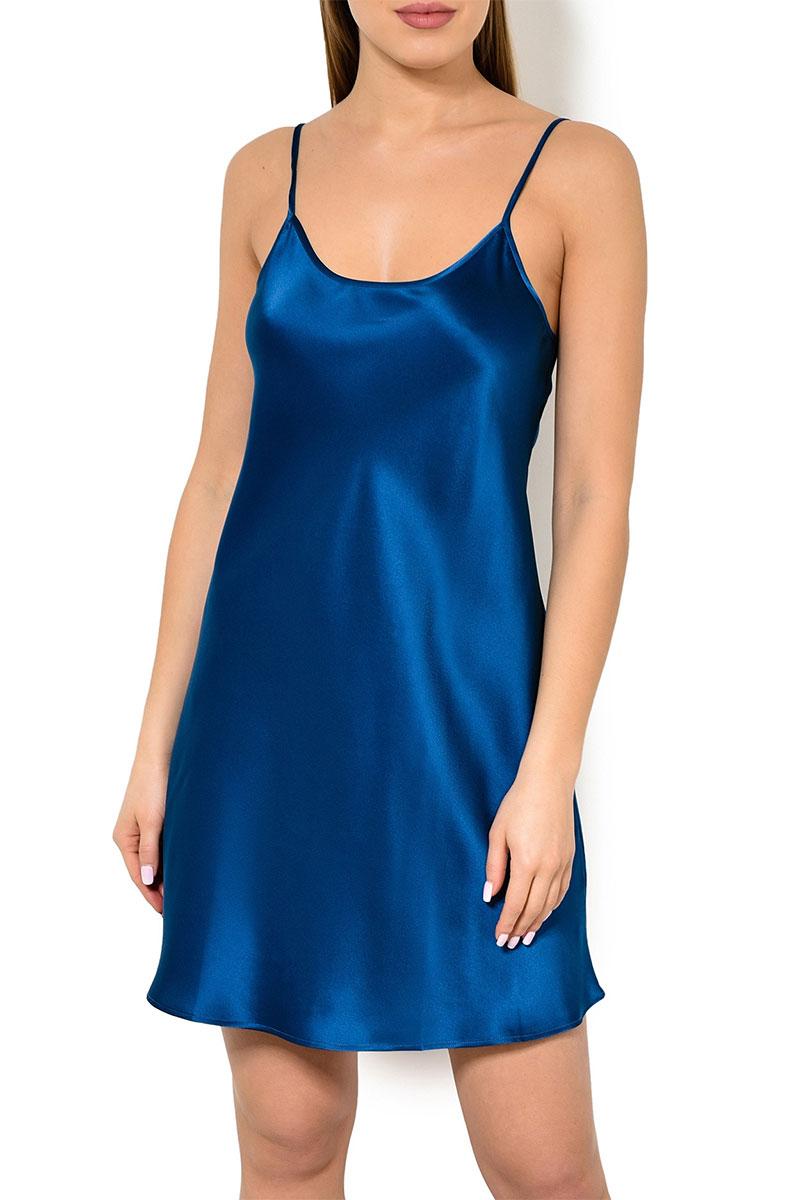 Женская сорочка на бретелях 05S1811 Jacqueline синий Oryades