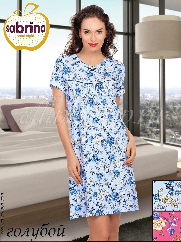 12530 Пионы Рубашка средней длины Sabrina