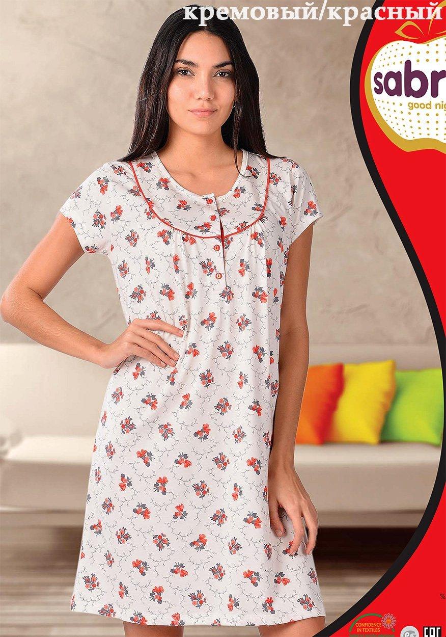 Рубашка ночная средней длины 12592 Sabrina