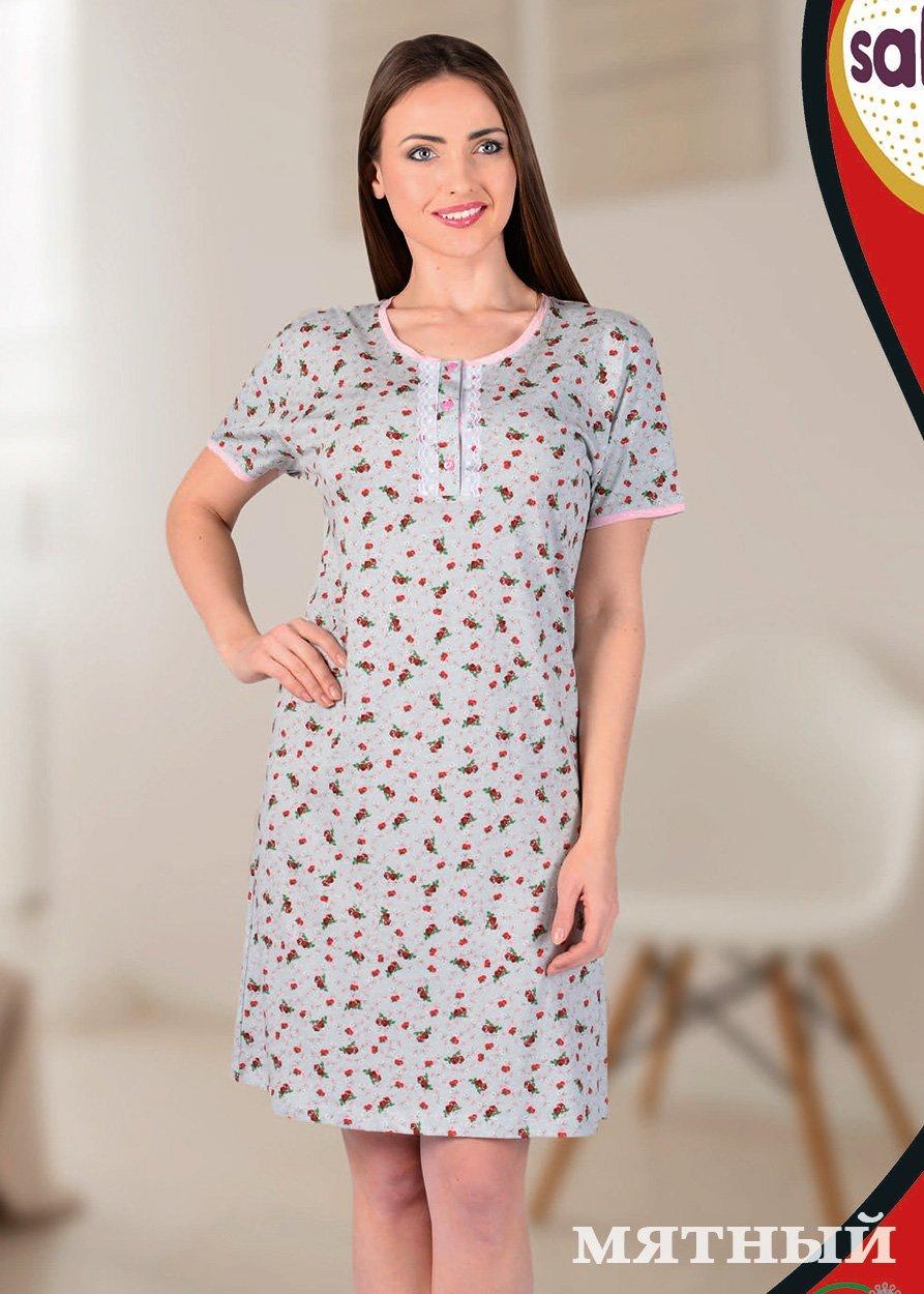 Рубашка ночная средней длины 12608 (22603) Sabrina
