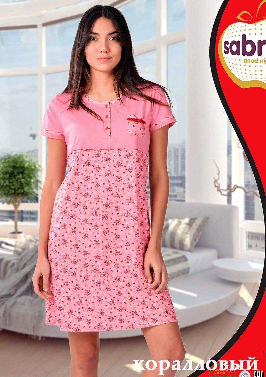 Рубашка ночная средней длины 22593 Sabrina