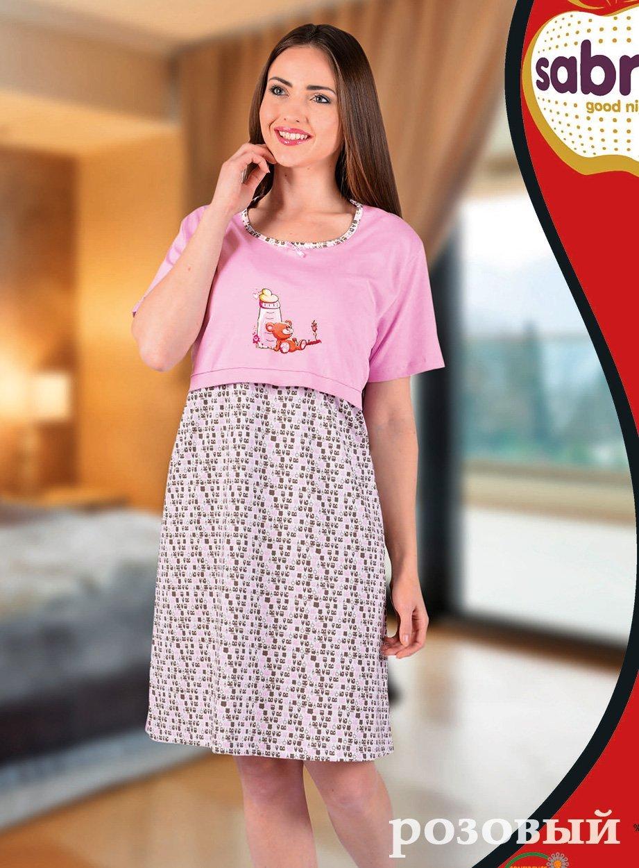 Рубашка для кормящих мам, средней длины 22627 Sabrina