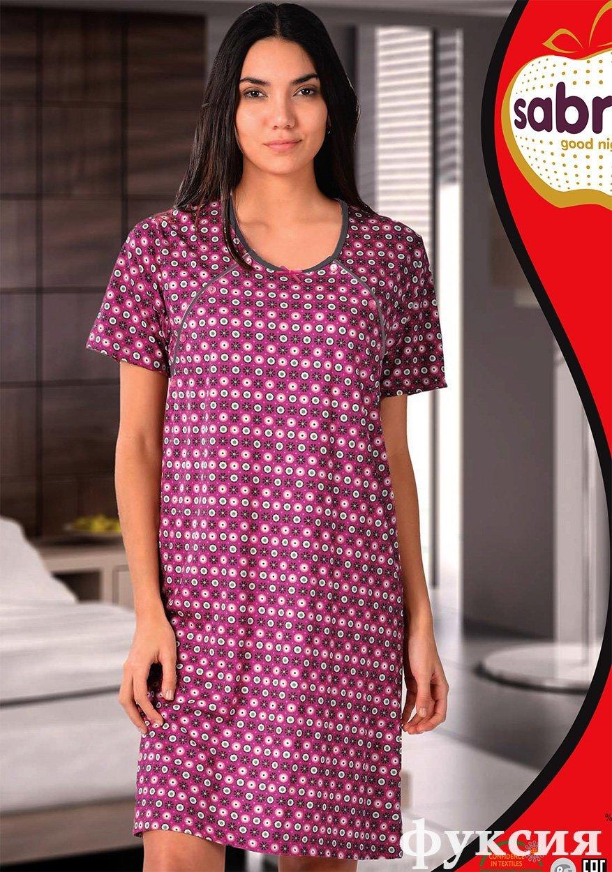 Рубашка для кормящих мам, средней длины 32521 Sabrina