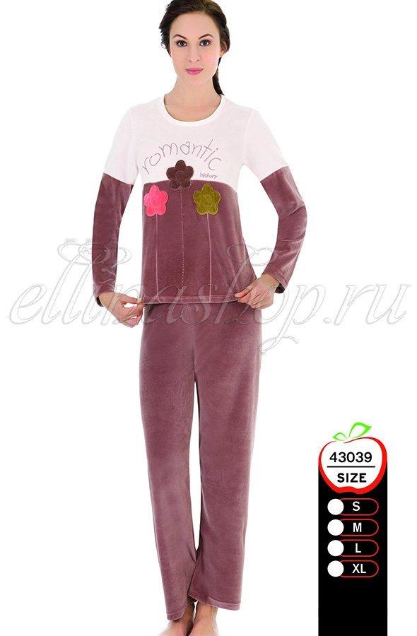 43039 Ромашки ком-т для отдыха (кофта+брюки) Sabrina