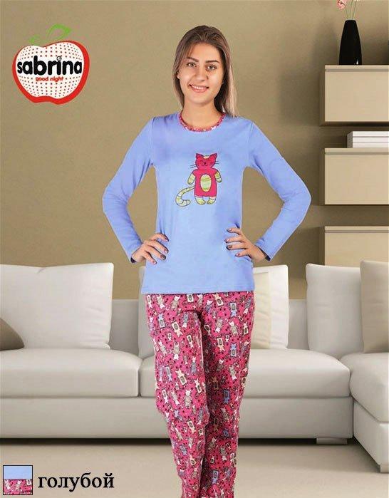 Комплект (кофта+брюки) с начесом 45033 Коты Sabrina