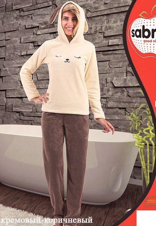 Комплект из микрофибры (кофта+брюки) 49801 Мордочка Sabrina