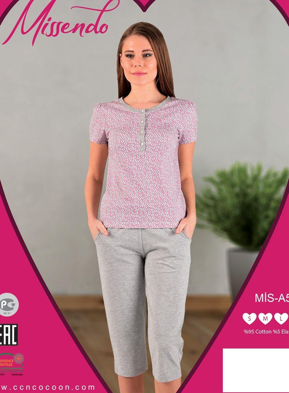 A-509 Цветочки - комплект (футболка+бриджи) Missendo