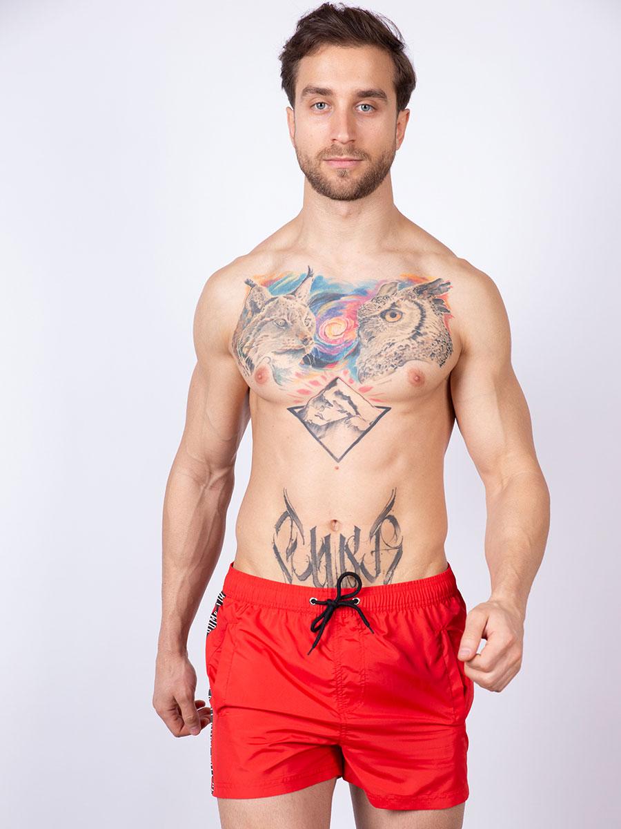 Мужские плавки шорты 01SU красный Uomo Fiero