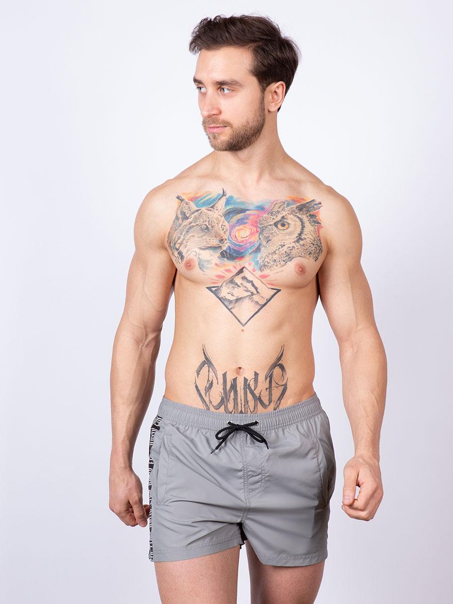 Мужские плавки шорты 01SU серый Uomo Fiero