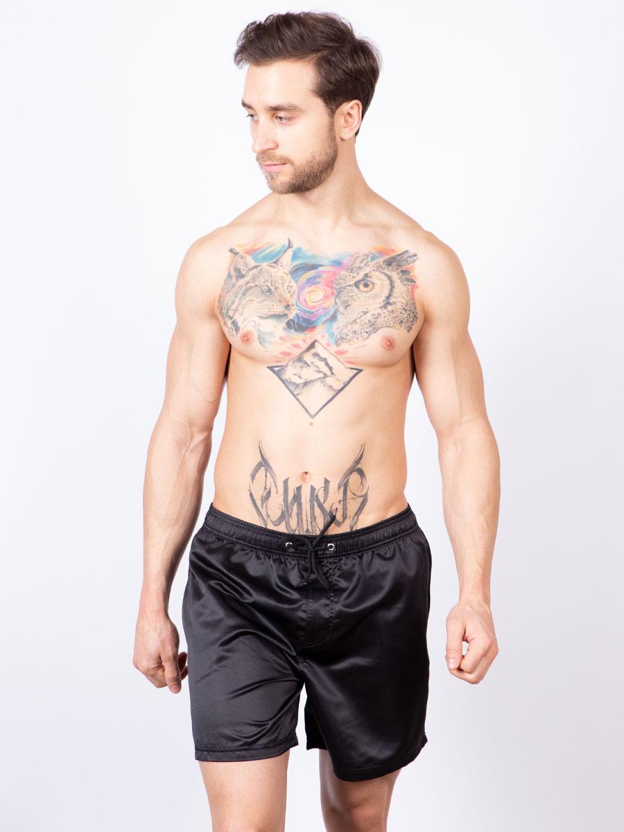 Мужские плавки шорты 02SU черный Uomo Fiero