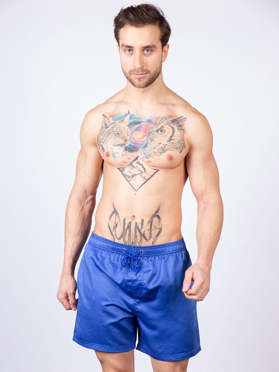 Мужские плавки шорты 02SU синий Uomo Fiero