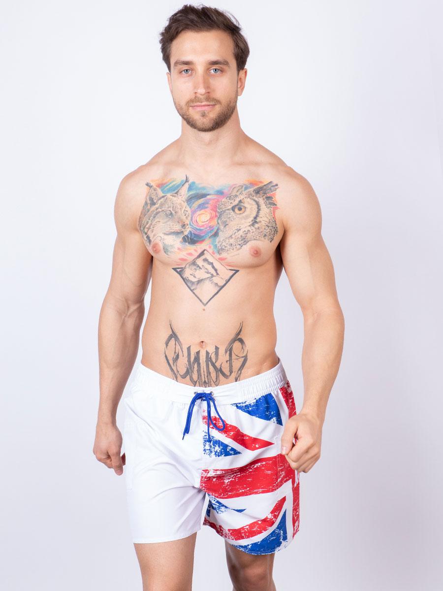 Мужские плавки шорты 04SU белый Uomo Fiero