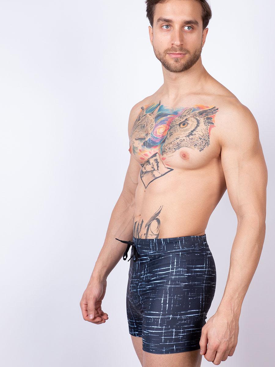 Мужские плавки шорты 06SU серый Uomo Fiero