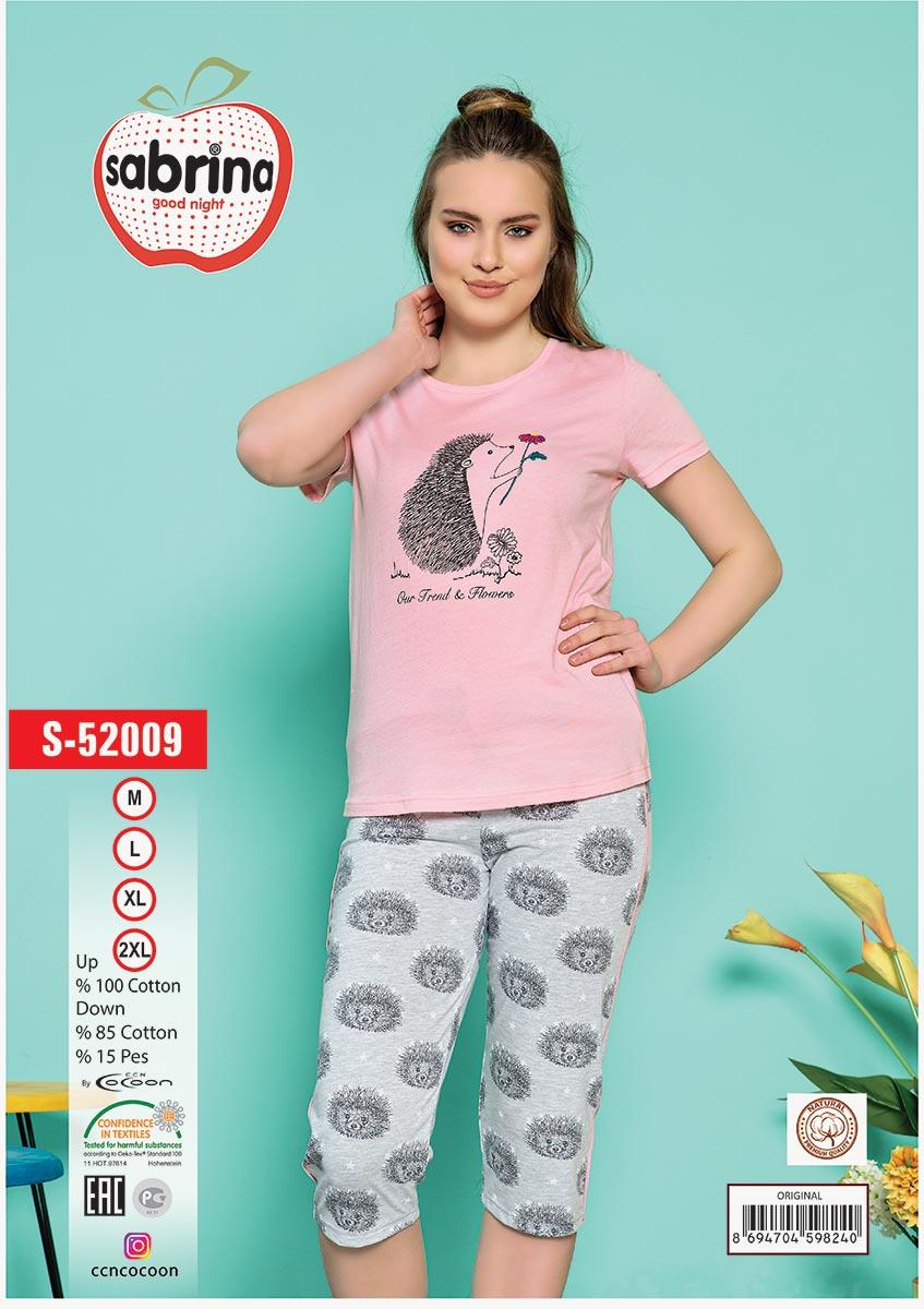 Женский комплект (футболка + бриджи) S-52009 Sabrina