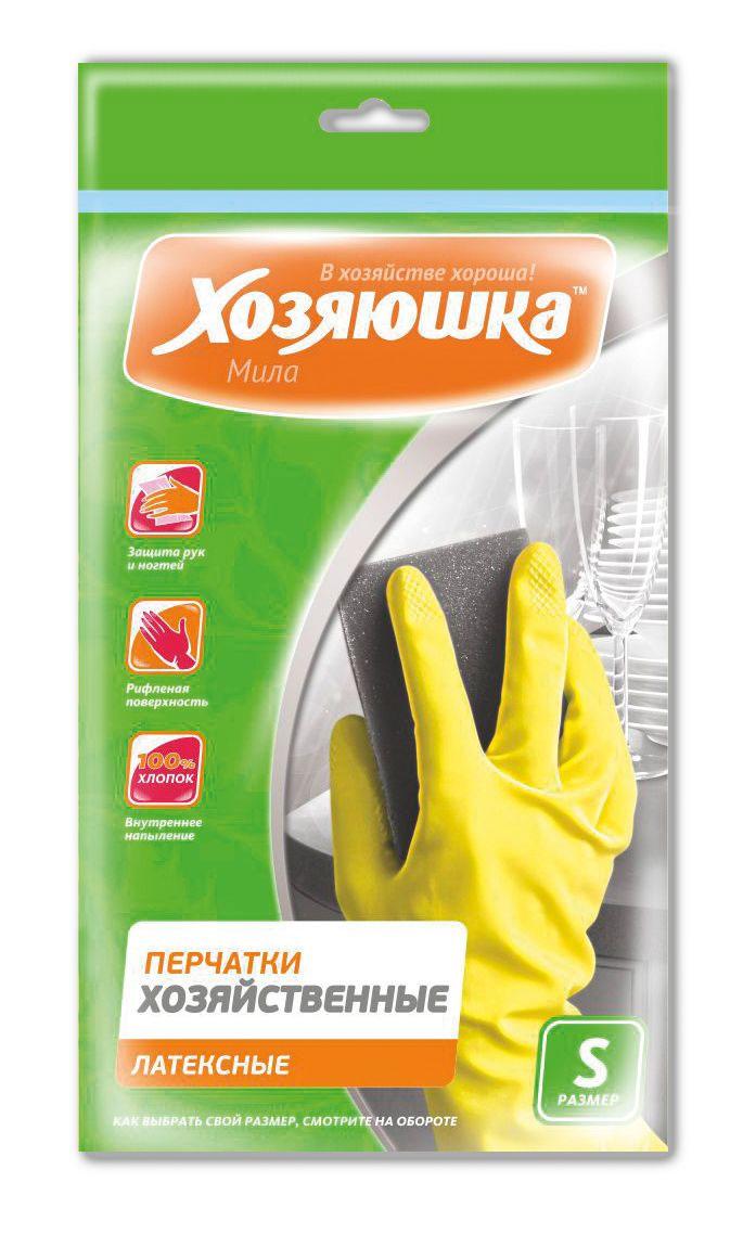 Перчатки латексные 17001 Хозяюшка Мила S