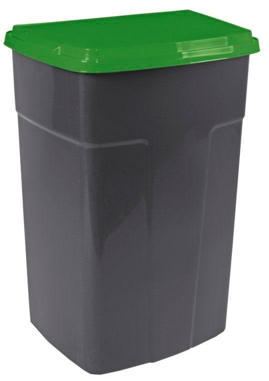 Бак мусорный 122062 темно-серый/зеленый 90 л