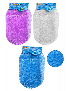 Коврик силиконовый MC-1903620 в ванную, овальный, 40*70 см