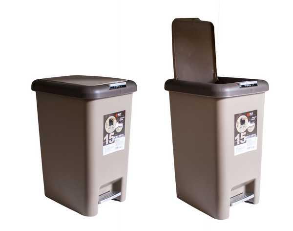 Контейнер для мусора MC-1903206-S 10 л, с педалью