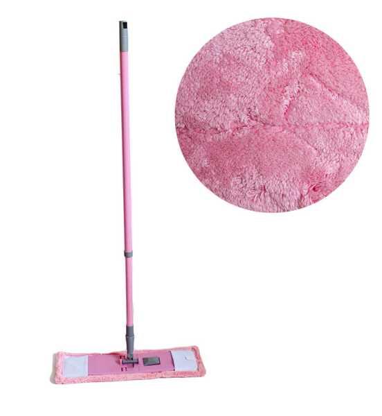 Швабра MC-1903673 плоская 40 см neco pink rose, металл телескоп ручка 80-120 см