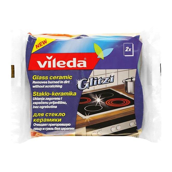 Губка 4011486 Glitzi для стеклокерамики 2x слойная 2шт. Vileda