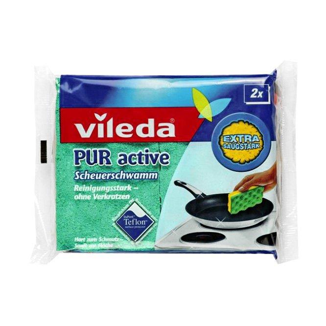 Губка 4016773 Pur active для посуды 3x слойная 2шт. Vileda