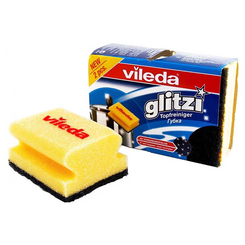 Губка 32102 Glitzi для кастрюль 2-x слойная 2шт. Vileda