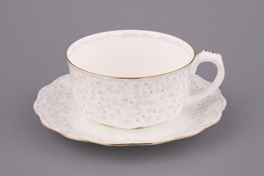 """Набор чайный  264-519 """"Вивьен"""" на 1 перс. 2 пр. 400 мл (чашка+блюдце)"""