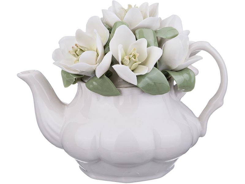 """Статуэтка 461-226 """"Чайник с цветами"""" 14*9*11 см"""