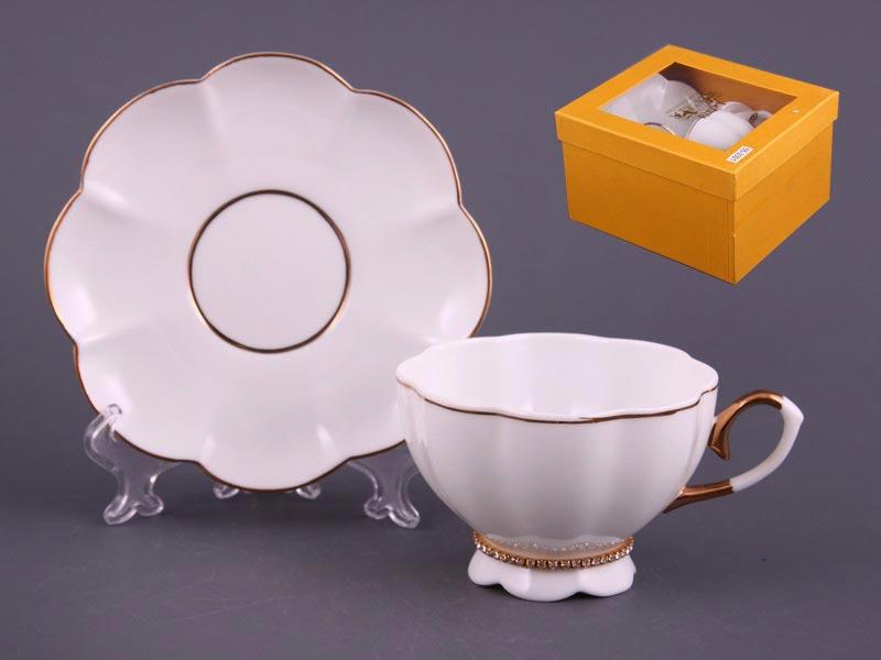 Чайный набор 55-2301 на 1 персону 2 пр. со стразами 220 мл