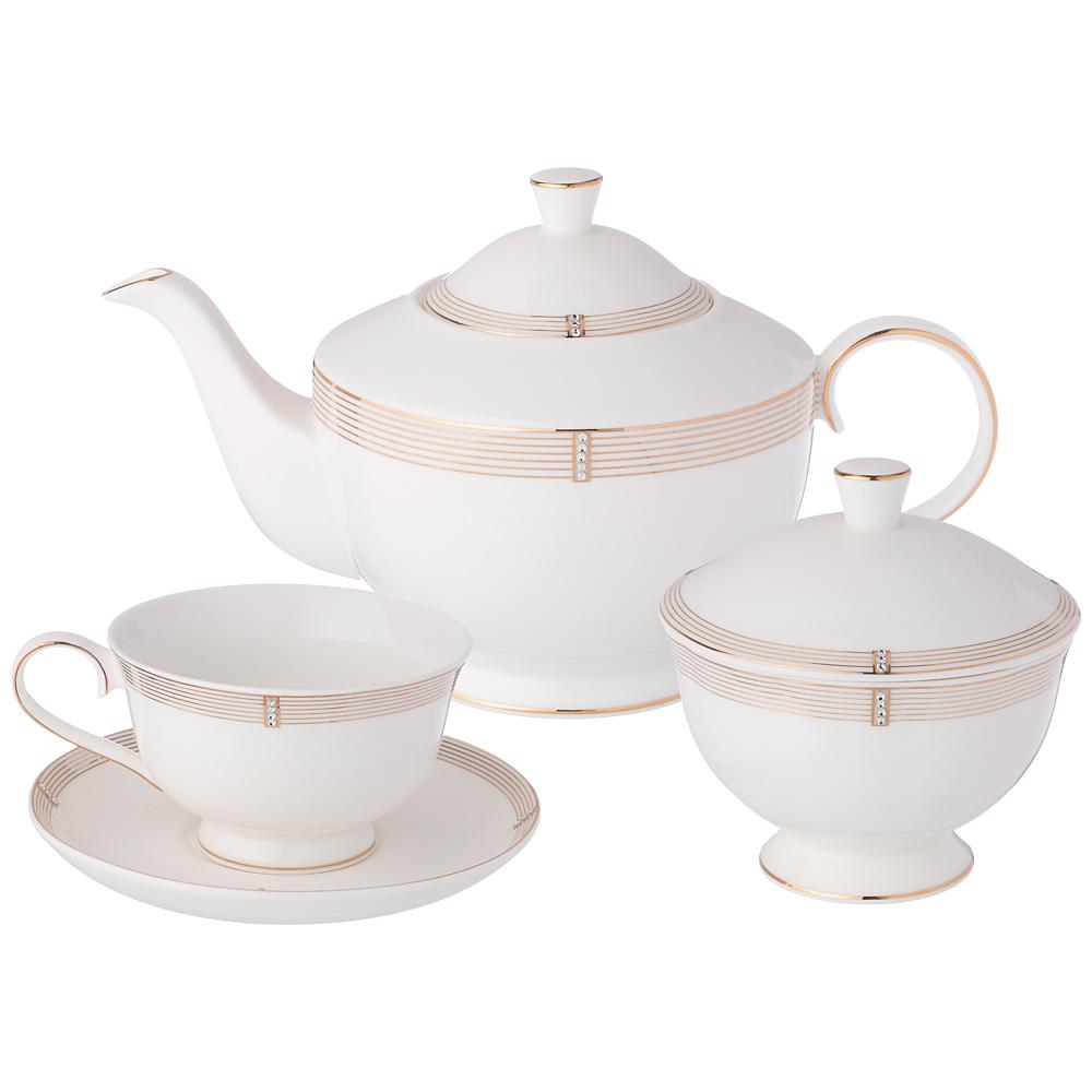 Чайный сервиз 754-120 style на 6 персон, 14 предметов