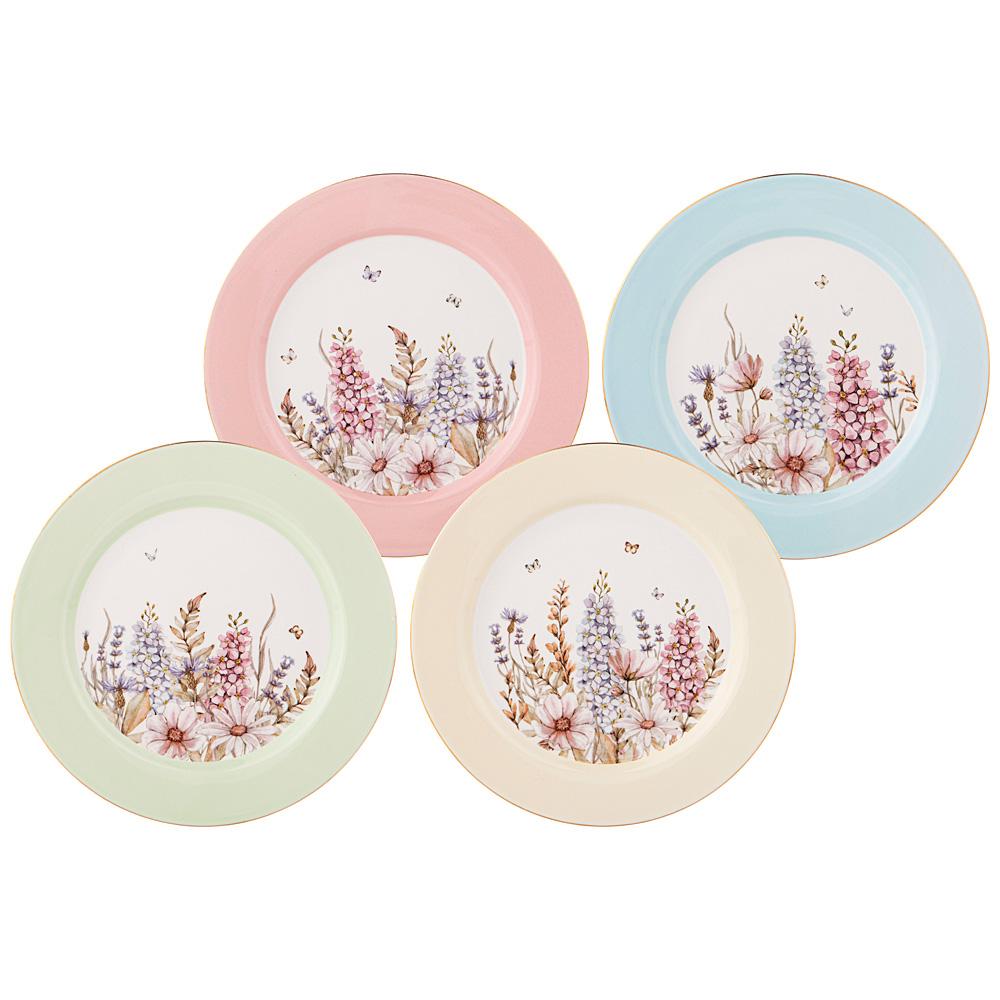 Набор тарелок закусочных 760-711 дворцовый парк 4 шт. 20,5 см микс