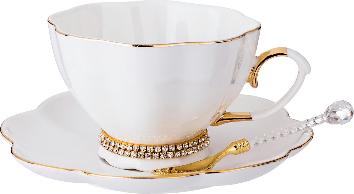 """Чайный сервиз 779-172 на 1 персону с ложкой """"Рублевка"""" 3 пр. 250 мл"""