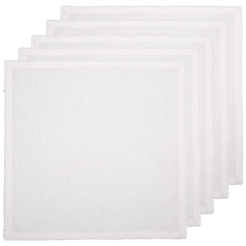 Набор салфеток 828-147 40*40 см 6 шт, белый